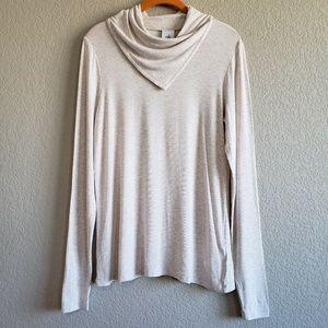 CAbi |  Sawyer Oatmeal Cowl Neck Tee Top Shirt S